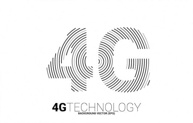 Sieć komórkowa tętnienia linii 4g. koncepcja technologii danych karty sim telefonu komórkowego.