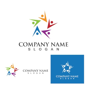 Sieć logo społeczności i ikona społecznościowa