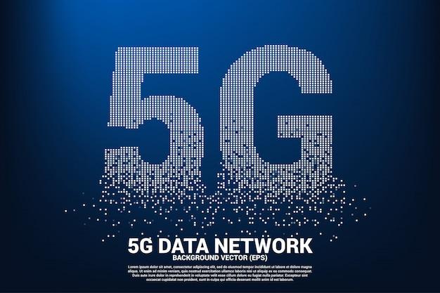 Sieć mobilna 5g z małego kwadratowego piksela