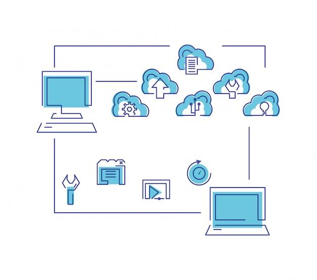 Sieć przetwarzania w chmurze z komputerami
