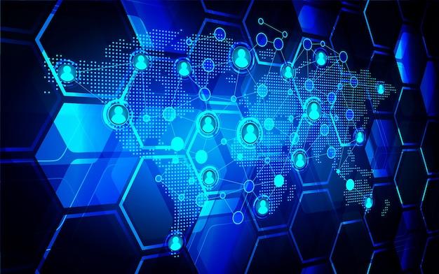 Sieć społecznościowa cyber cyber technologia przyszłości