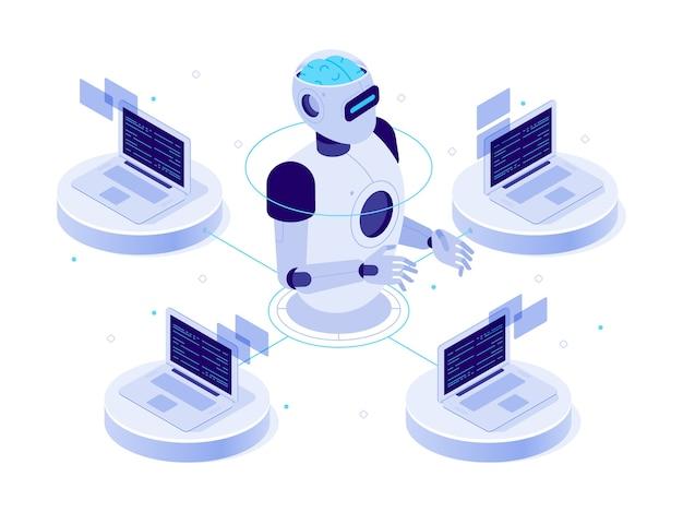 Sieć sztucznej inteligencji.