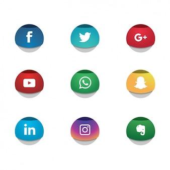 Sieci społecznościowe ikony kolekcji