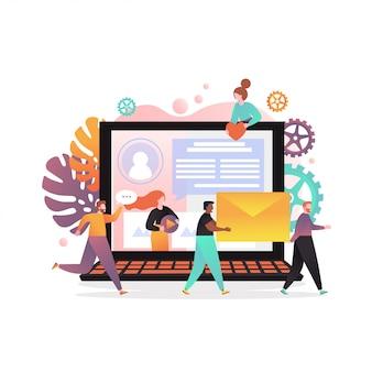Sieci społecznościowe wektor koncepcja banner www