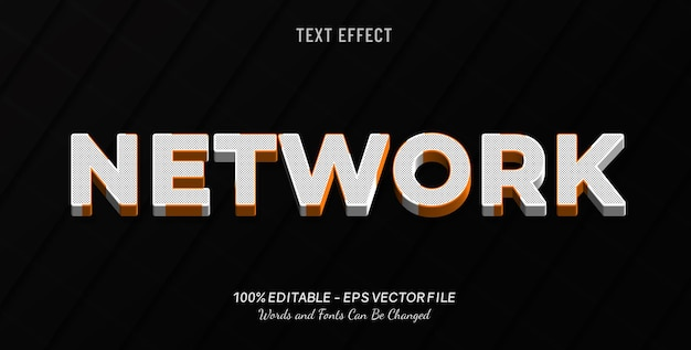 Sieciowy efekt tekstowy
