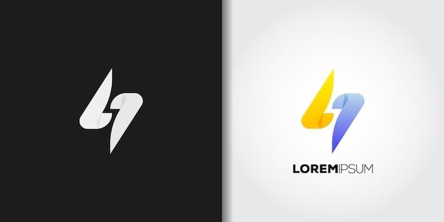 Siedem elektrycznych szablonów logo
