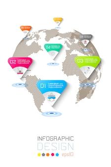 Siedem okręgów z ikoną biznesu