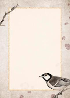 Sikora bogatka talgoxe na brązowym tle grunge