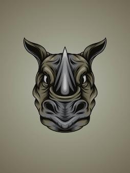 Silna nosorożec kierownicza ilustracja