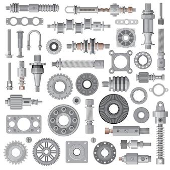 Silnik samochodowy, części zamienne do maszyn, stalowe śruby i nakrętki mechanizmu, łożyska, koła zębate i amortyzatory sprężynowe