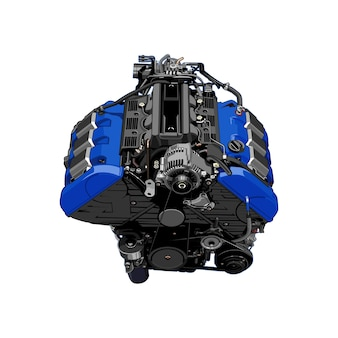 Silnik samochodu wektor
