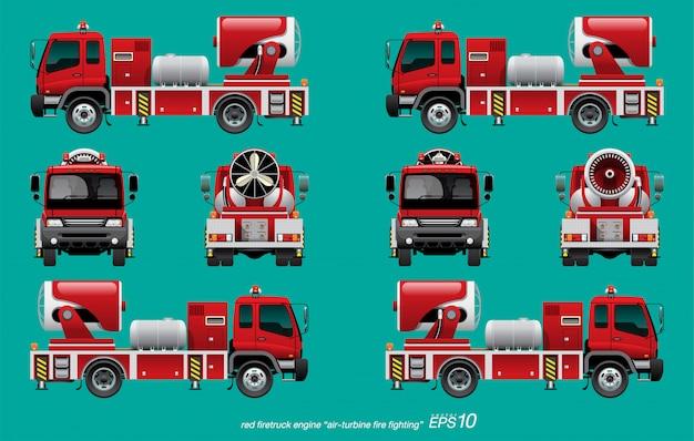 Silnik wozu strażackiego