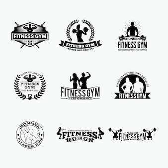 Siłownia fitness - odznaki - logos 1