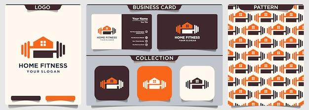 Siłownia fitness szablon wektor logo domu.