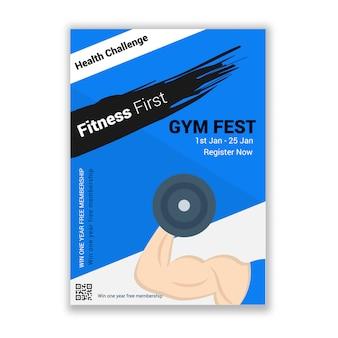 Siłownia fitness wyzwanie wydarzenie zaproszenie ulotki