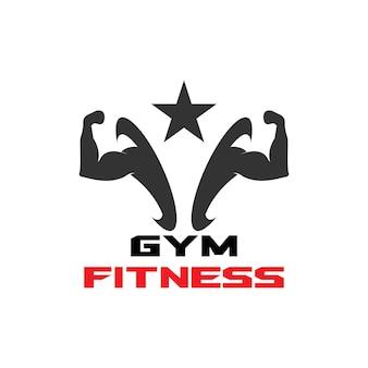 Siłownia fitness zdrowie ludzie logo grafika wektorowa