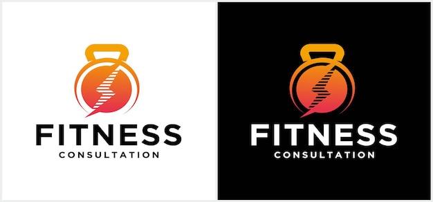 Siłownia logo skonsultuj się z projektowaniem logo fitness fitness logo siłownia logo grafika wektorowa i grafika