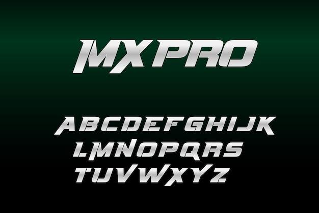 Silver bold font mxpro