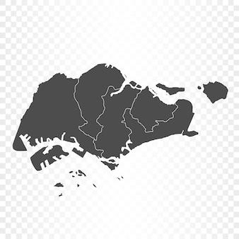 Singapur mapa na białym tle renderowania