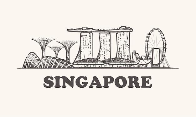 Singapur szkic miasta