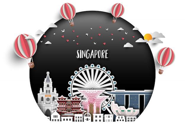 Singapur tło