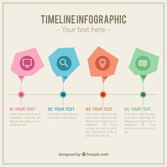 Sk? ad abastract osi czasu infografika szablonu