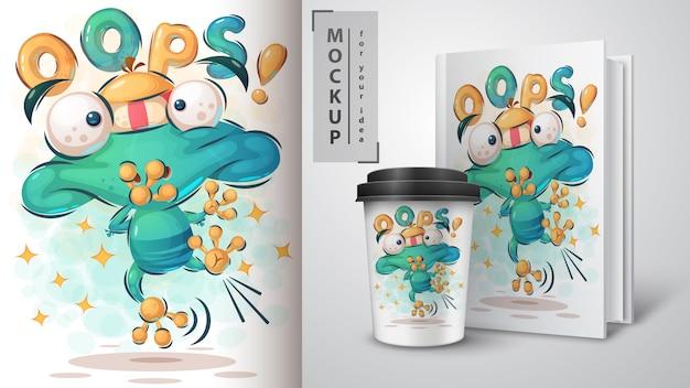 Skacz żaba plakat i merchandising