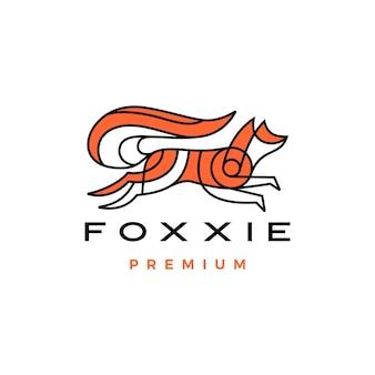 Skaczący lis logo wektor ikona ilustracja