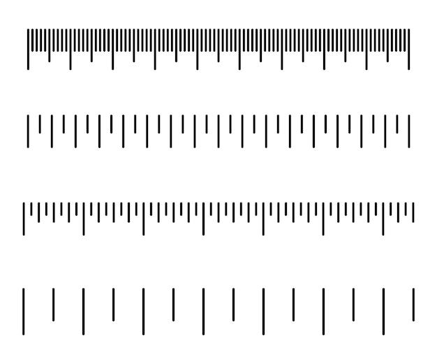 Skala pomiarowa. różne jednostki miary. ilustracja wektorowa