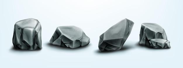 Skały górskie kamienie głazy elementy naturalne