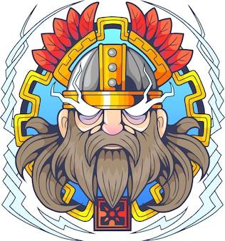 Skandynawski bóg piorunów thor
