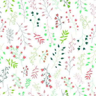 Skandynawski liść i kwiaty
