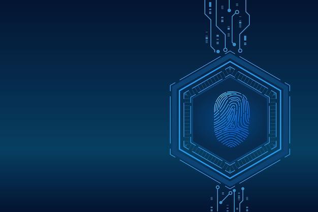 Skanowanie odcisków palców cyberbezpieczeństwo i kontrola haseł dzięki dostępowi do odcisków palców z identyfikacją biometryczną