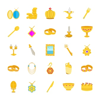 Skarb płaskie ikony
