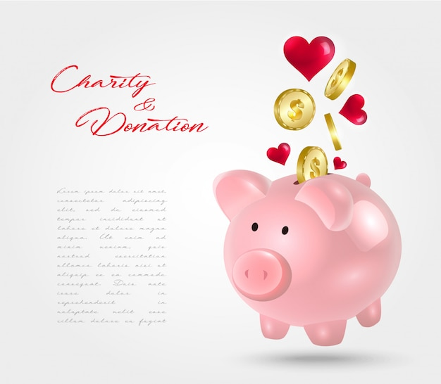 Skarbonka na darowiznę. koncepcja charytatywna.