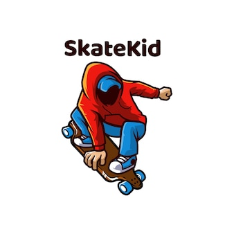 Skate kid skating outdoor łyżwy