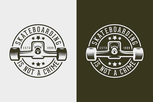 Skateboarding nie jest przestępstwem vintage typografia skateboarding t shirt design illustration