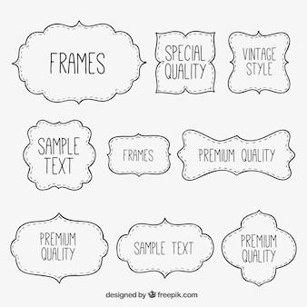 Sketchy frames collecrion