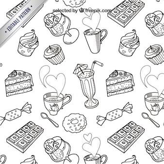 Sketchy słodycze wzór