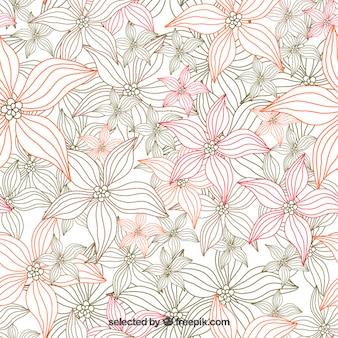 Sketchy tle kwiatów