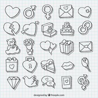 Sketchy valentine serca opakowanie
