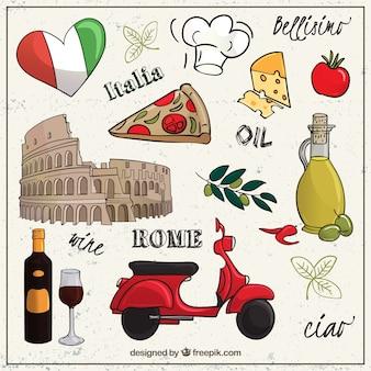 Sketchy zbiór elementów rzymie