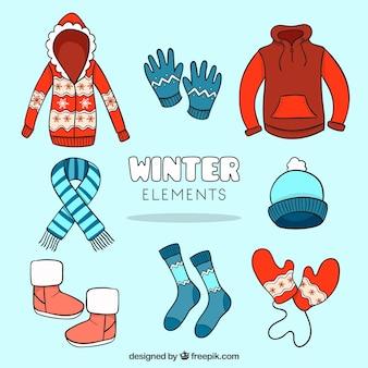 Sketchy zimowe ubrania