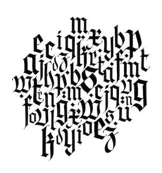 Skład czcionki średniowieczny gotyk europejski nowoczesny gotyk