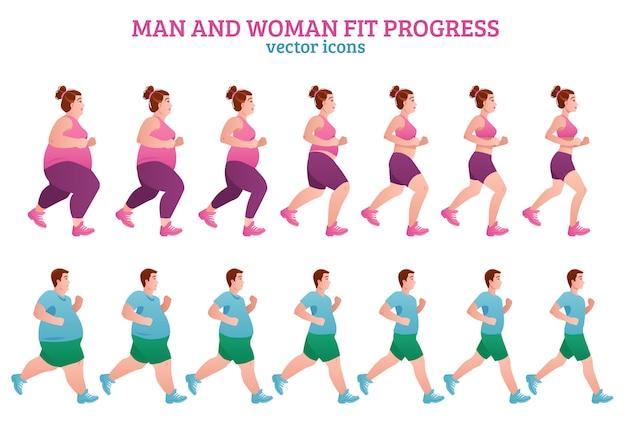 Skład etapów fitness