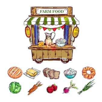 Skład farm food outdoor shop