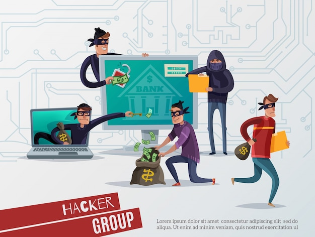 Skład hakera internetowego
