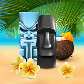 Skład hawajskiej plaży kahuna