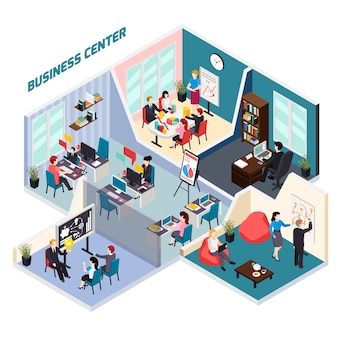 Skład izometryczny centrum biznesowego