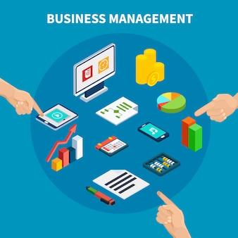 Skład izometryczny danych biznesowych